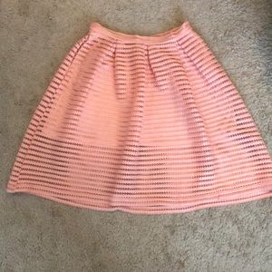 Pink lined skirt with pockets!